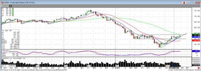 Crude Light Feb '19 Daily Chart